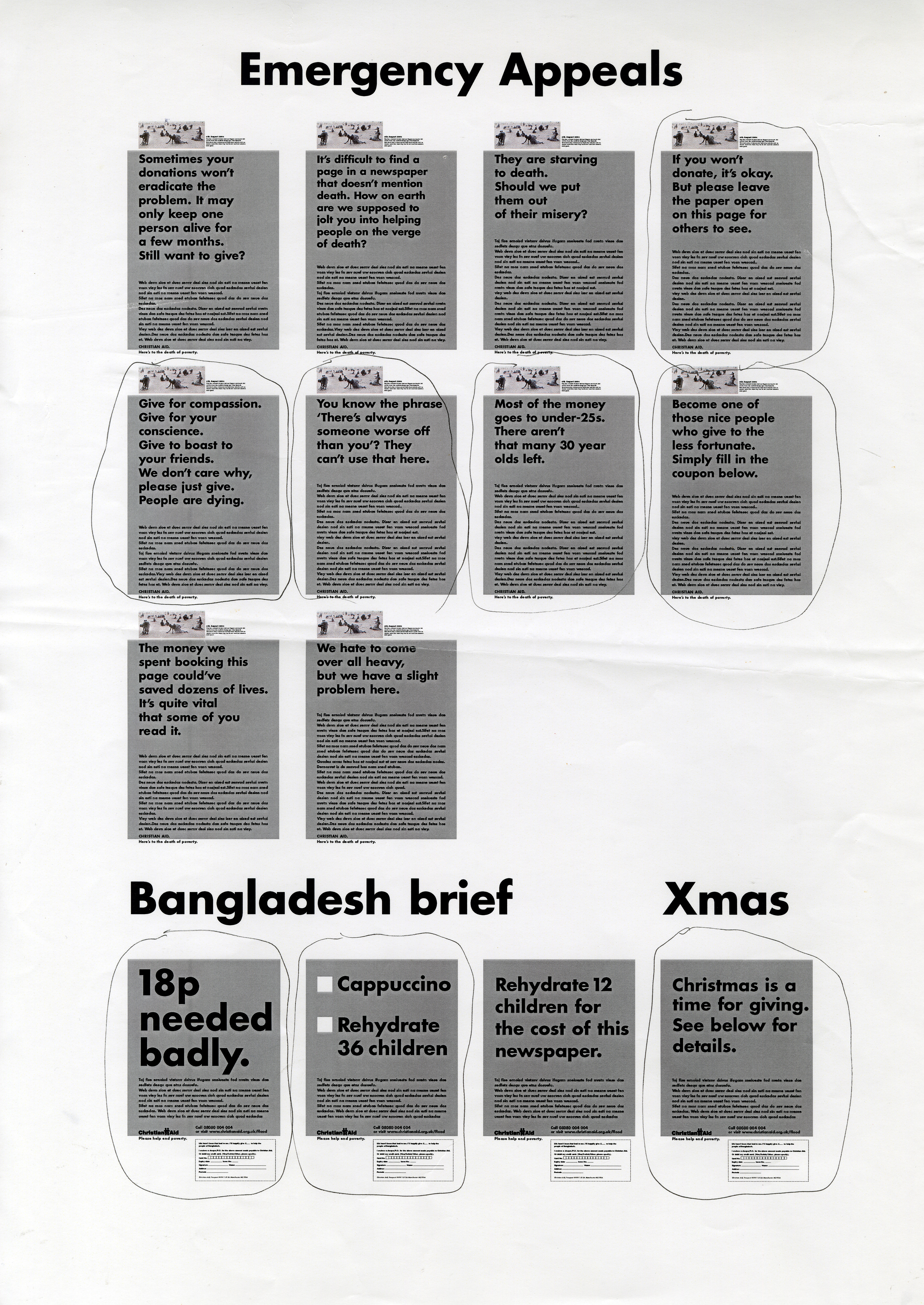 Christian Aid, RED, Page of Roughs - D, CDD-01.jpg