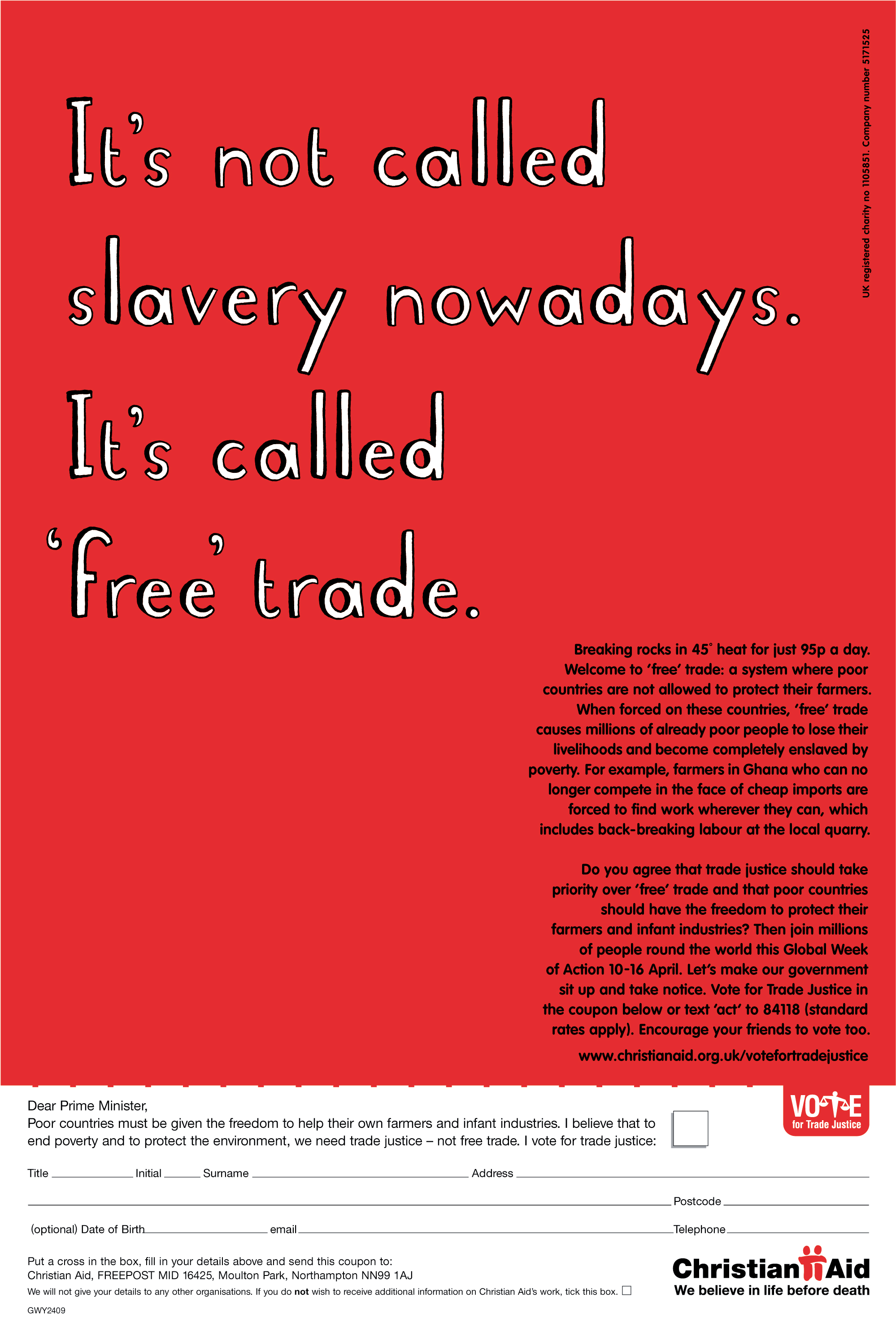 Christian Aid, RED, 'Slavery', CDD-01