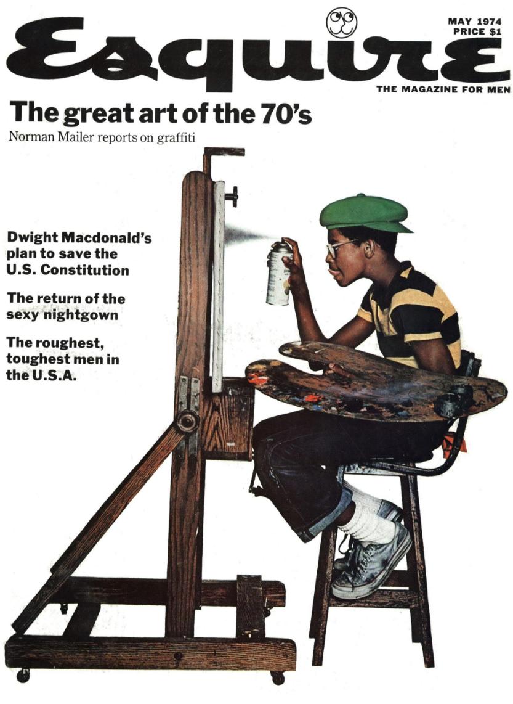 Esquire Cover 'Graffitti Artist', Jean Paul Goude.png