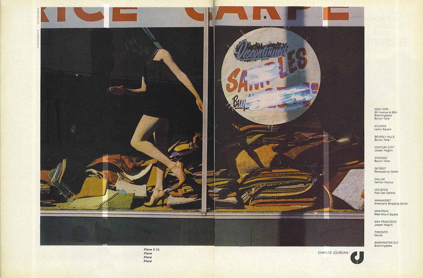 'In Window' Charles Jourdan, Guy BourdainVogue-March-1978.jpg