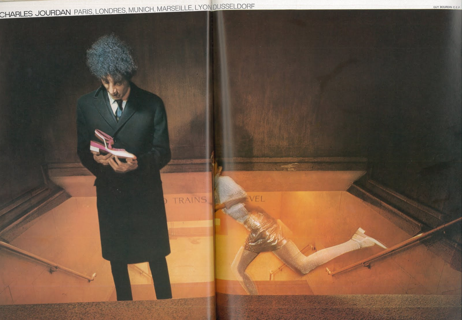 'Man On Stairs', Charles Jourdan, Guy Bourdain.png