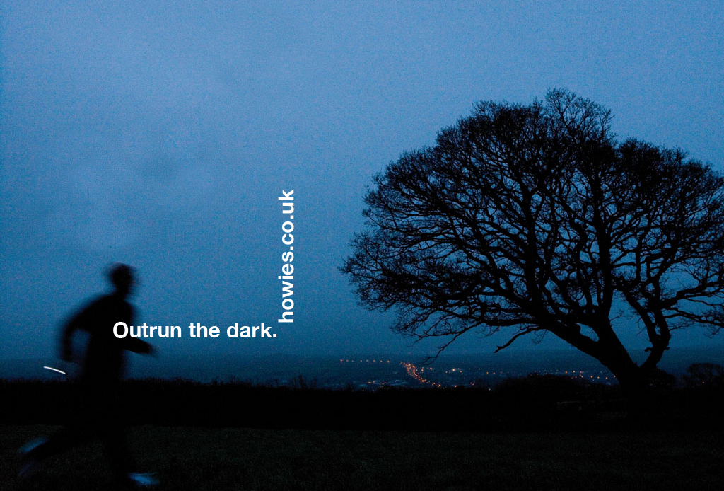 'Outrun the dark' Howies, DHM.jpg