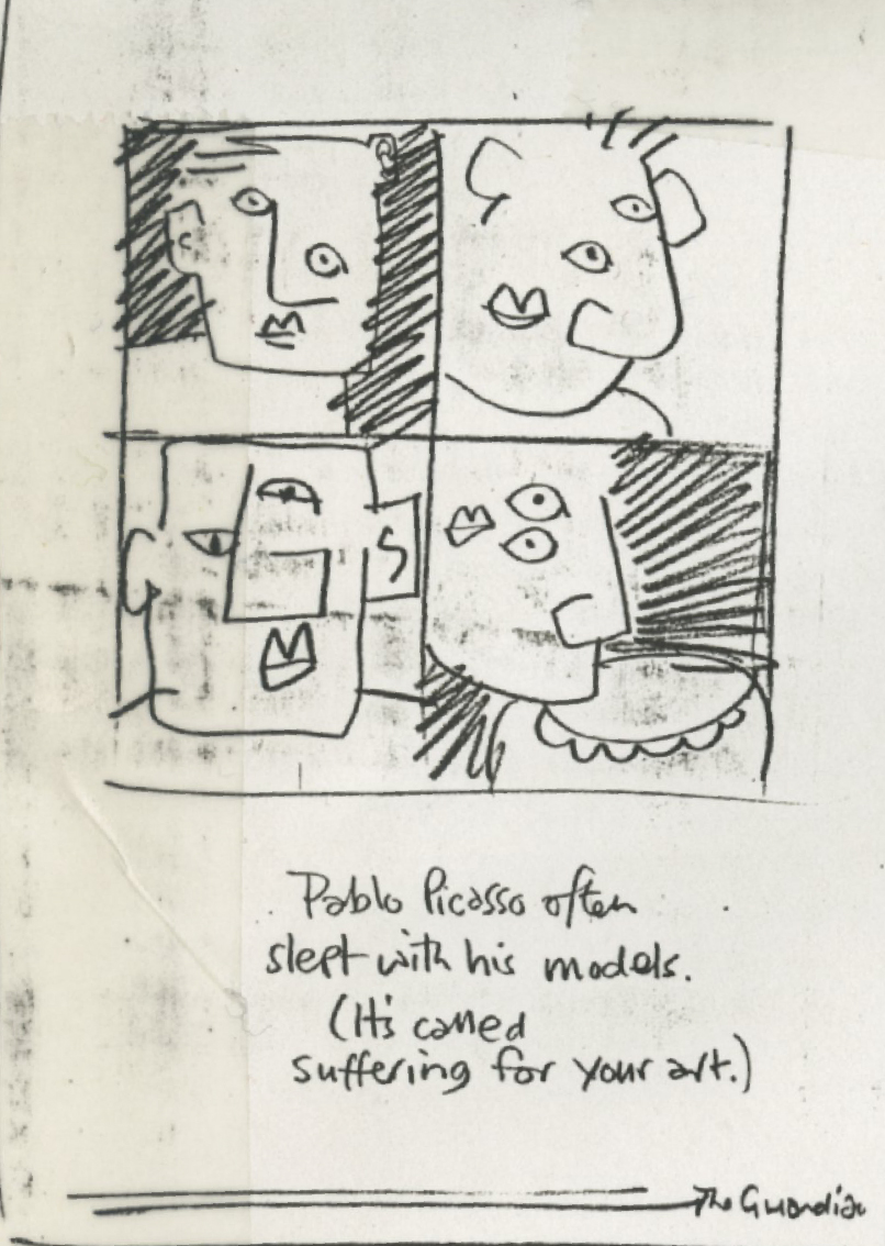'Pablo Picasso Often' The Guardian, 'Leagas Delaney, Rough.jpg