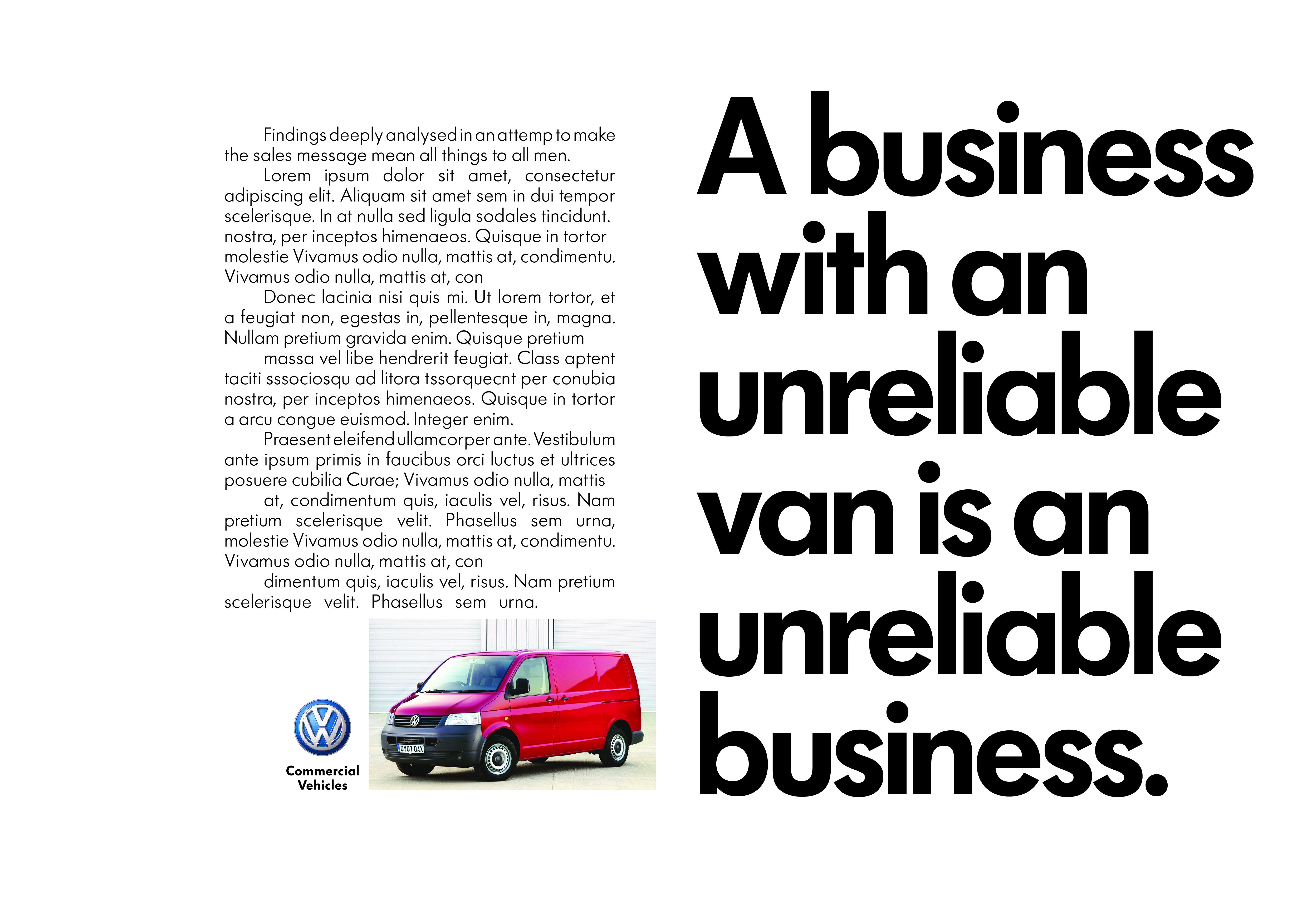 'Unreliable Van', Volkswagen CV, DHM-01