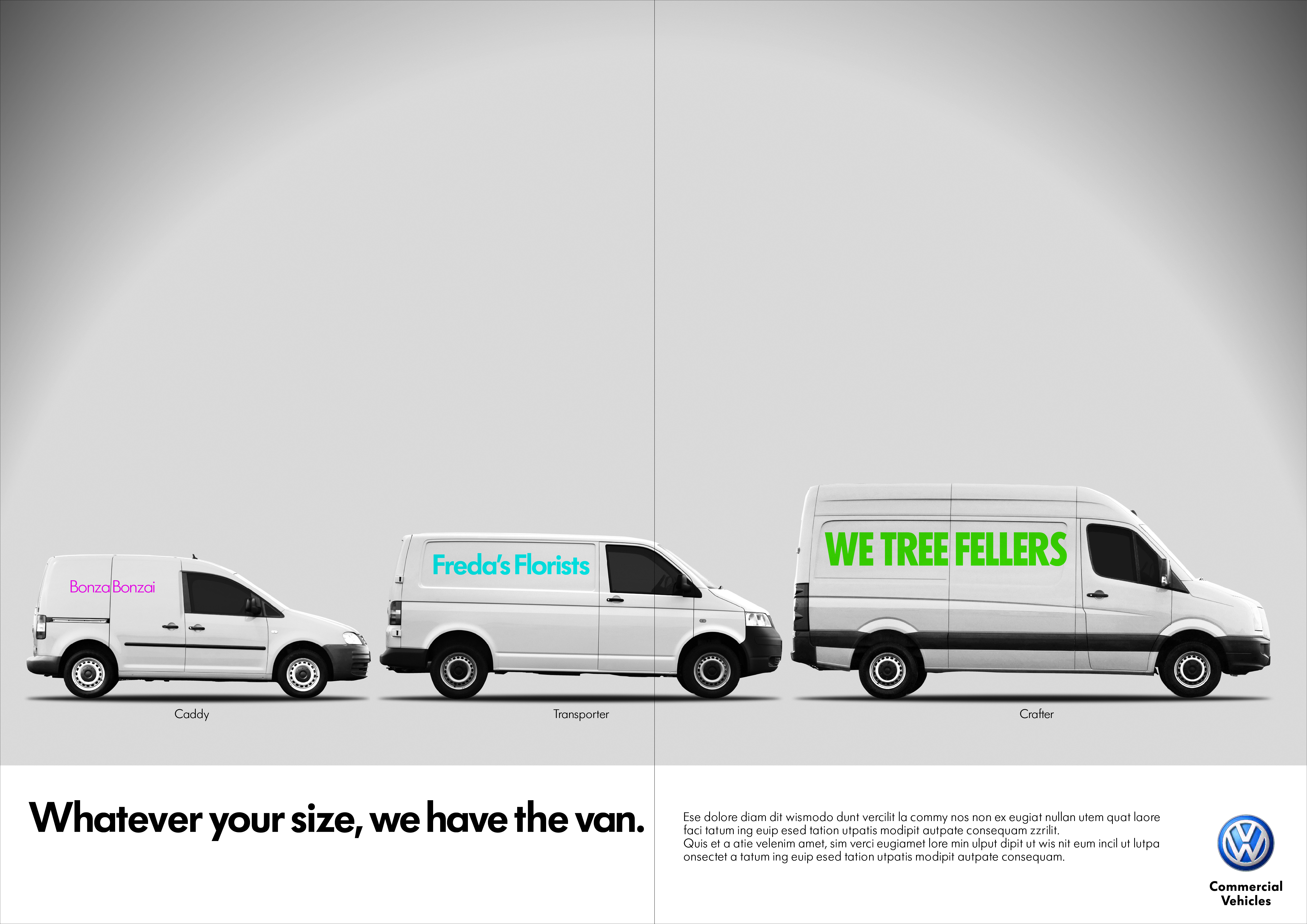 'Whatever your size', Volkswagen CV, DHM-01
