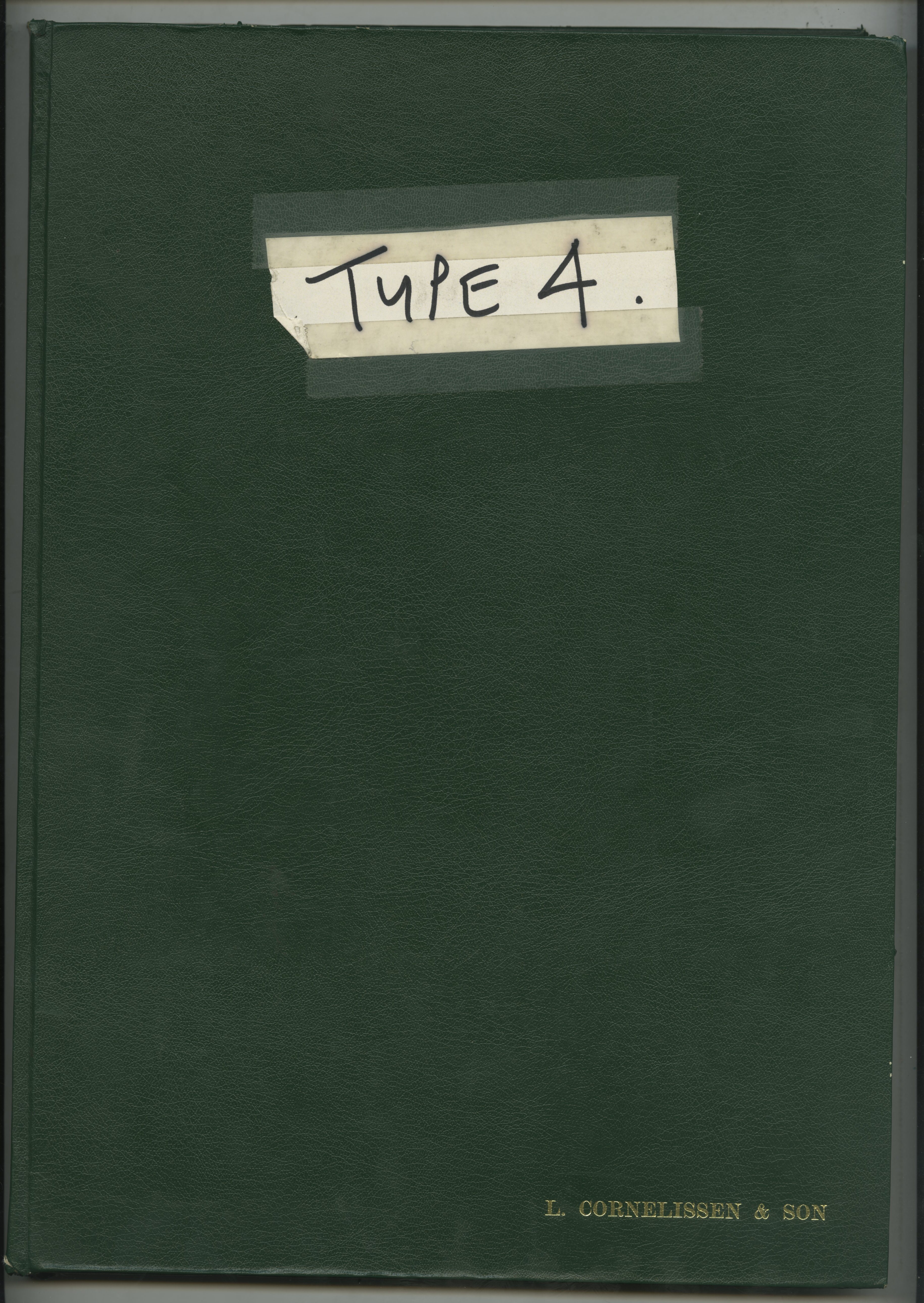 1. Green Book Type Cover