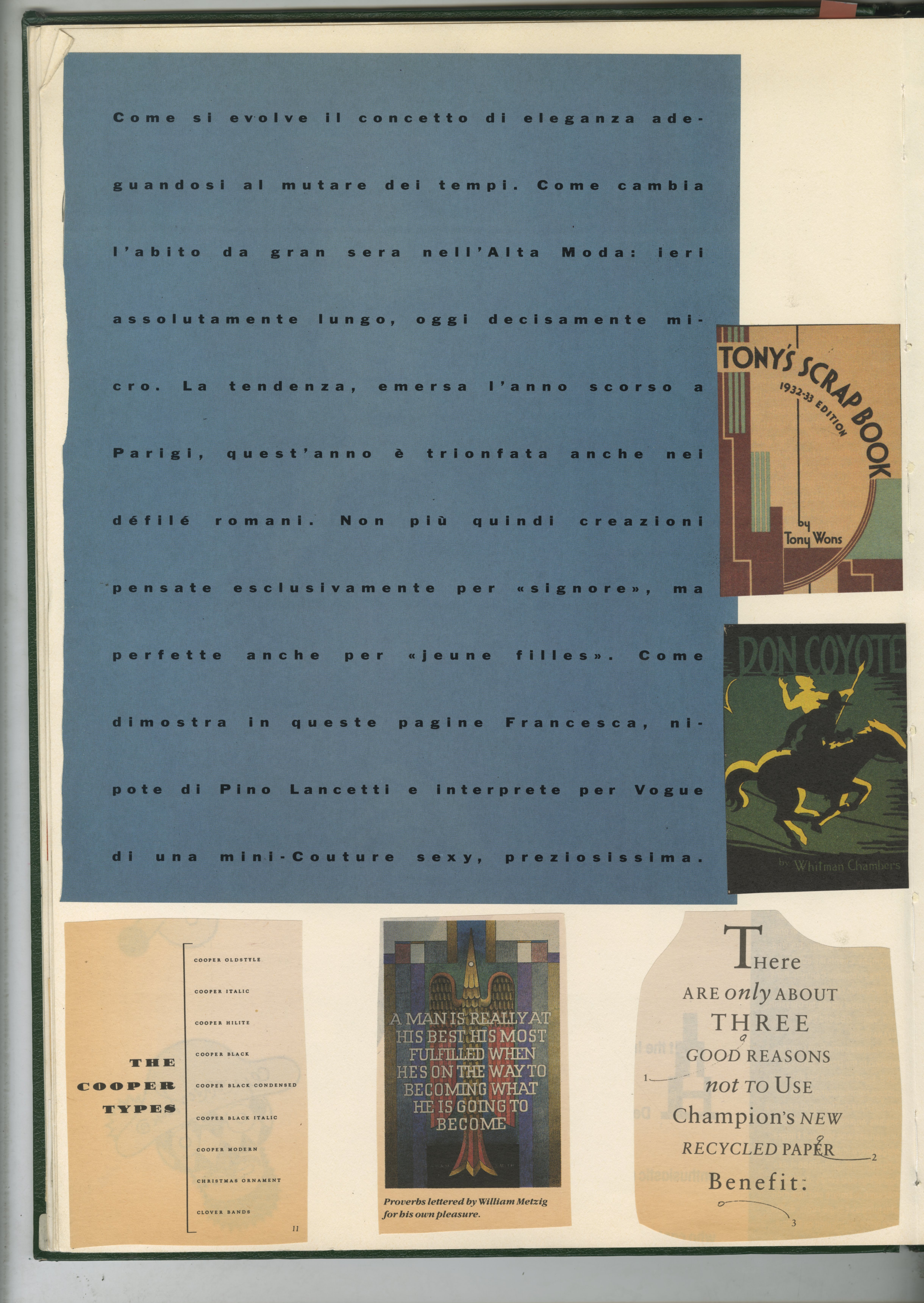 23. GREEN BOOKS: 'Type'