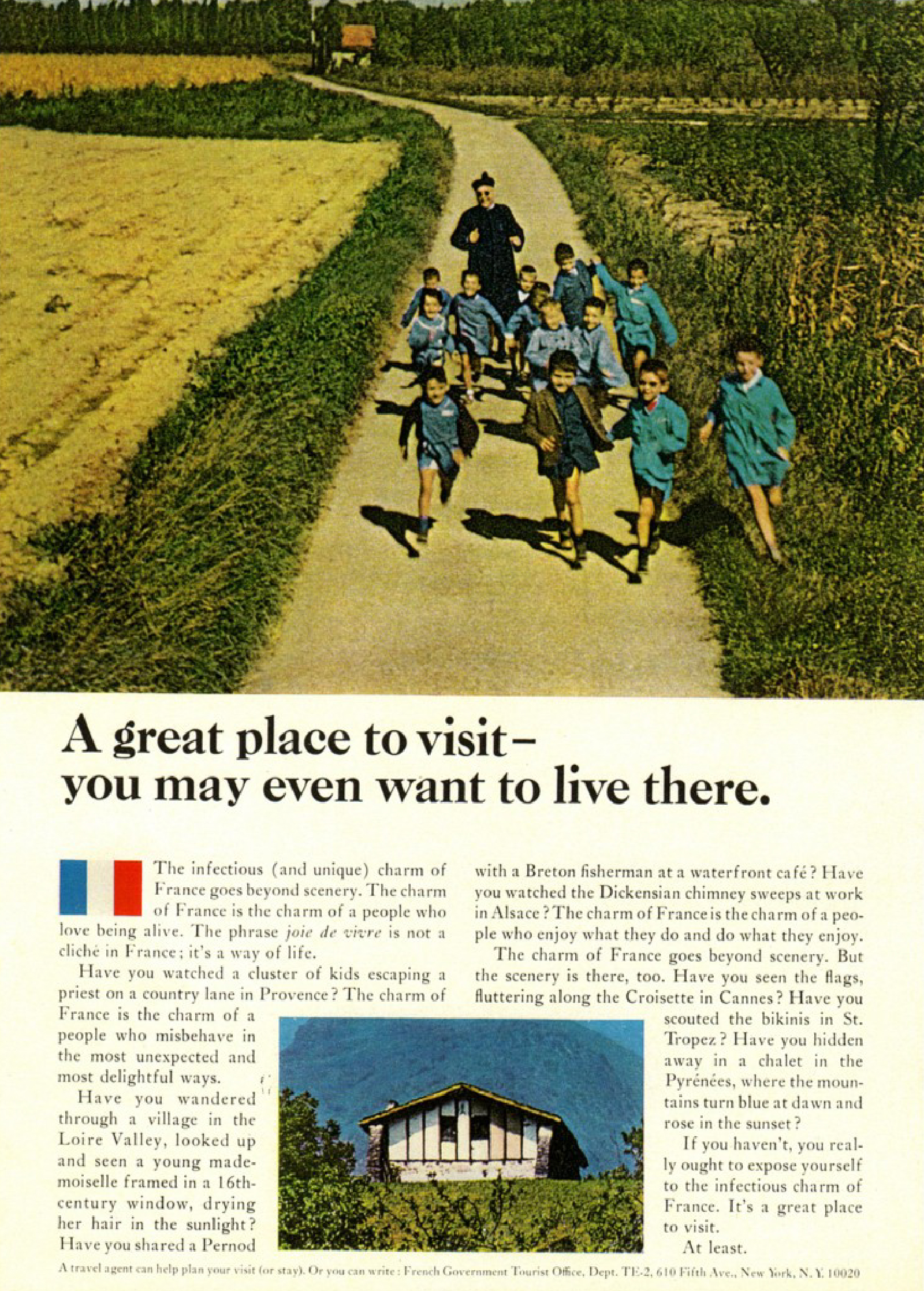 'A Great Place'' French Tourist Board, DDB NY, 1960's-01.jpg