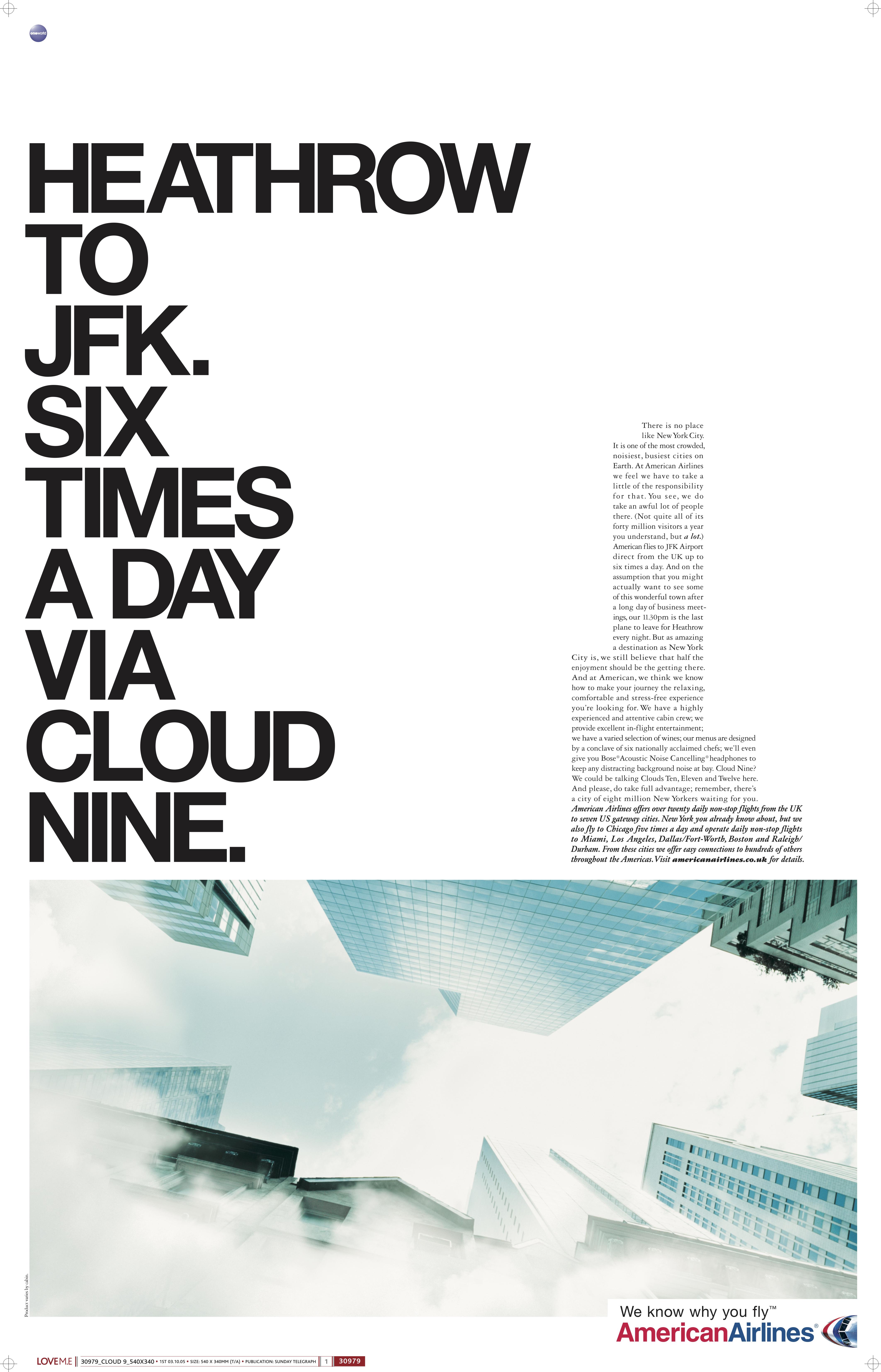 'Heathrow To JFK' American Airlines, Mark Reddy, McCann's.jpg