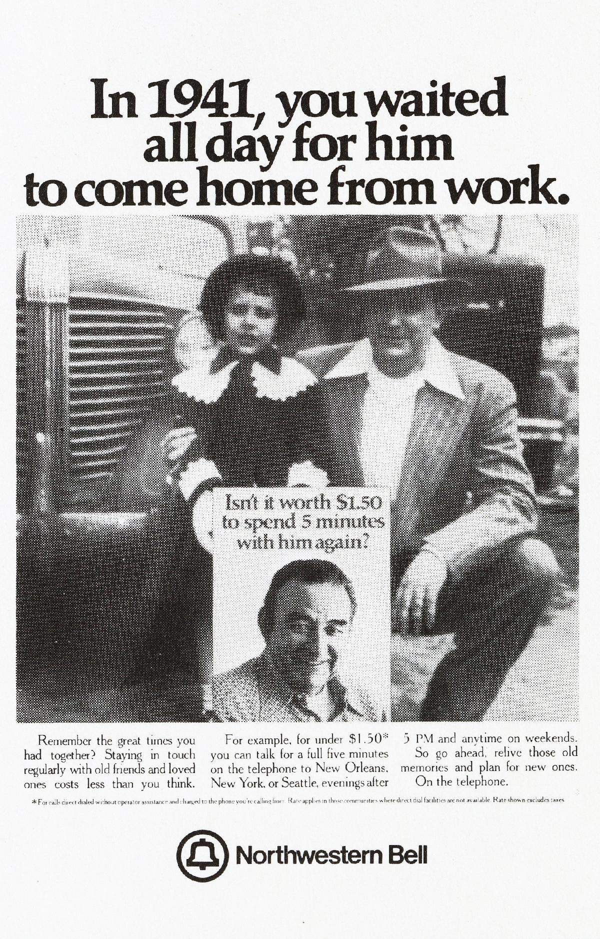 'In 1941, You Waited' Northwestern Bell, Tom McElligott, Ron Anderson, Bozell-01.jpg