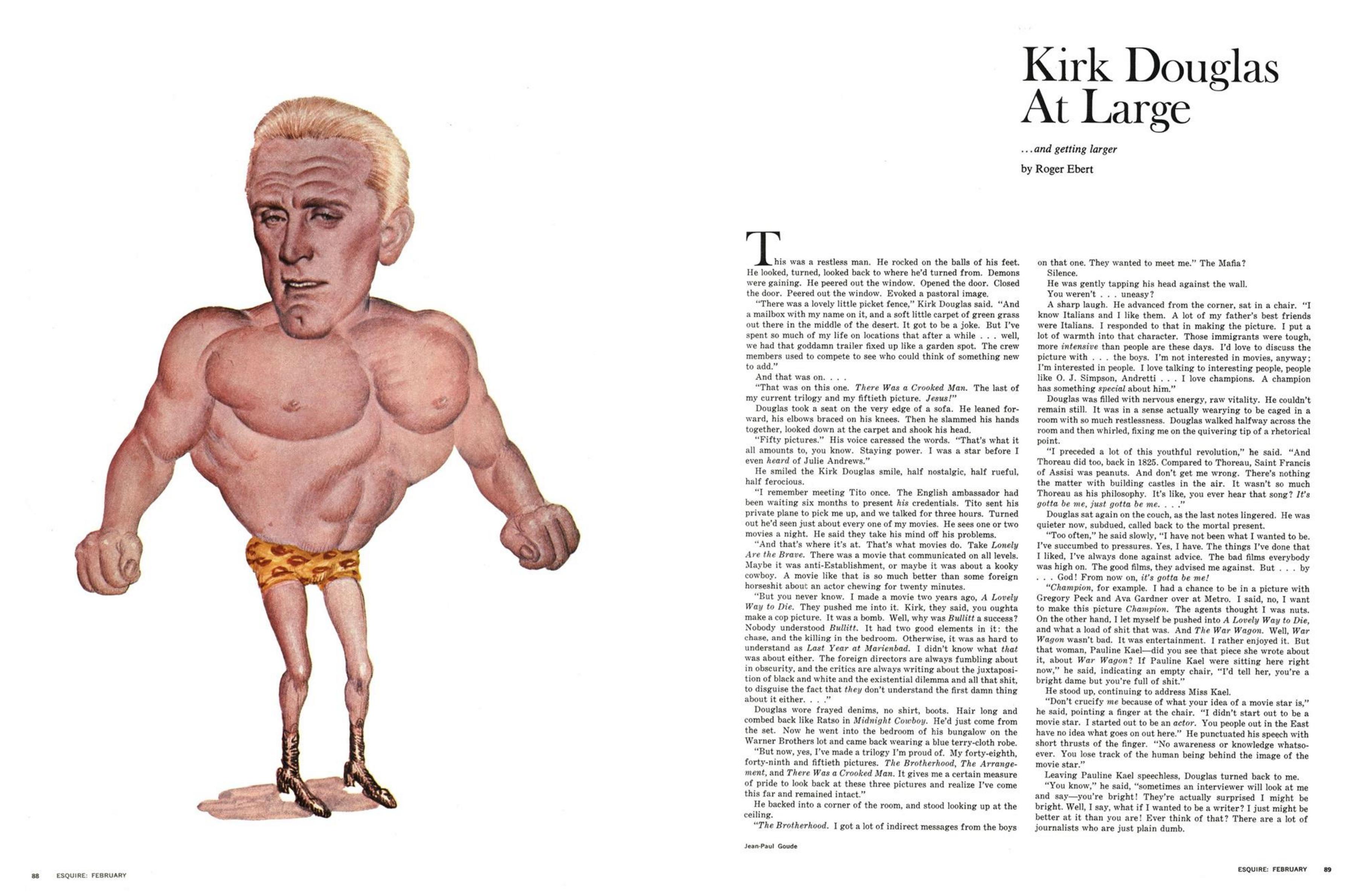 Jean Paul Goude 'Kirk Douglas', Esquire.png