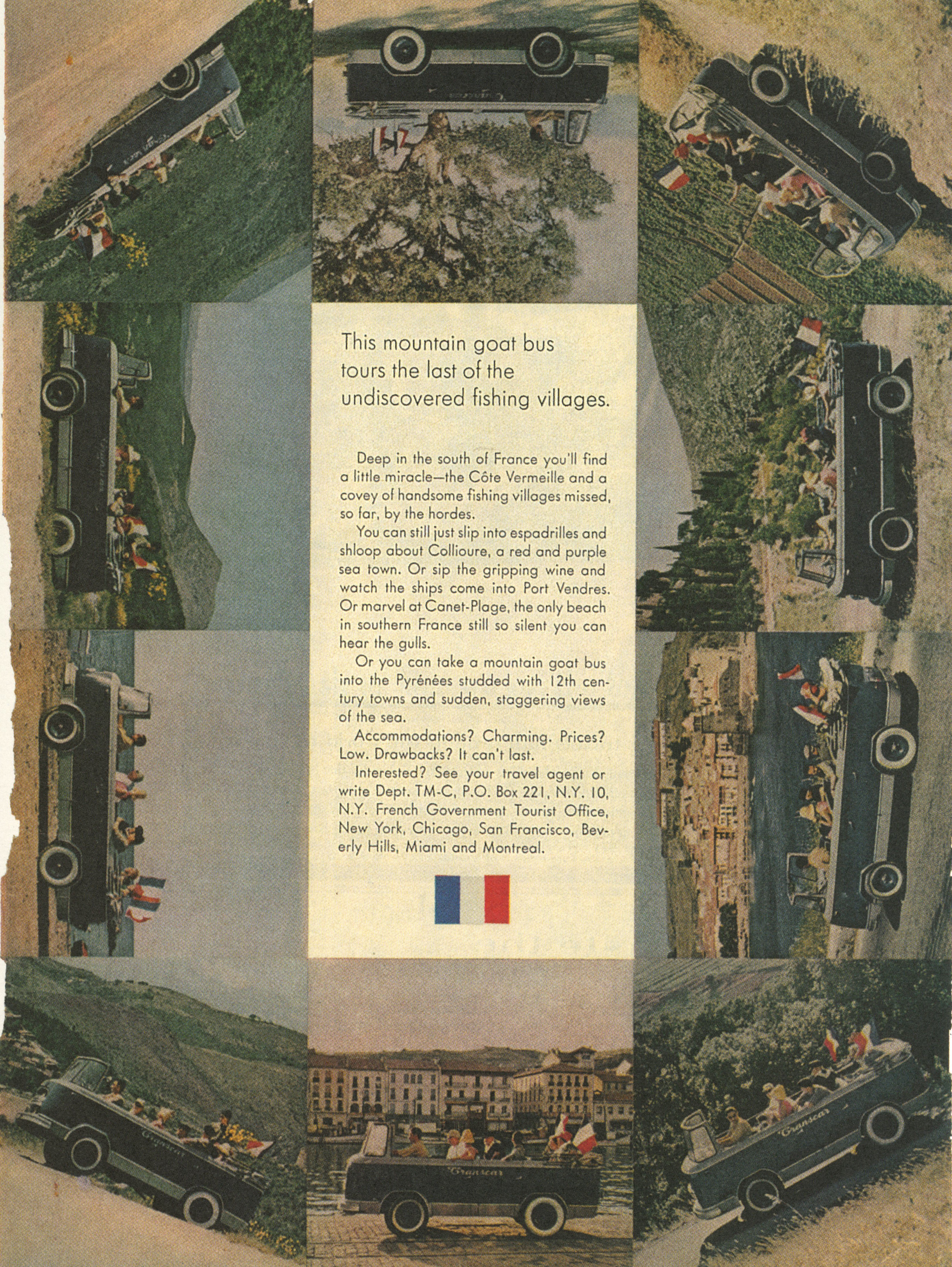 'Mountain' French Tourism, Mary Wells, DDB NY-01