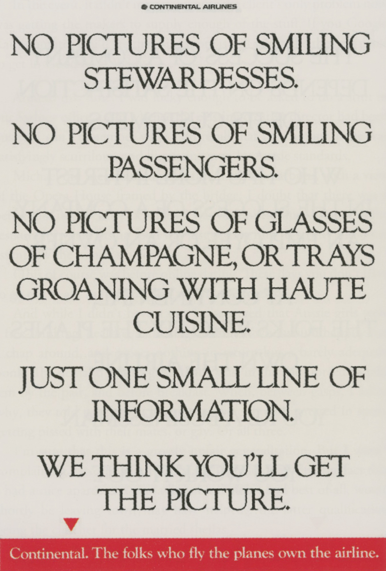 'No Pictures' Continental Airlines, Neil French, The Ball Partnership-01.jpg