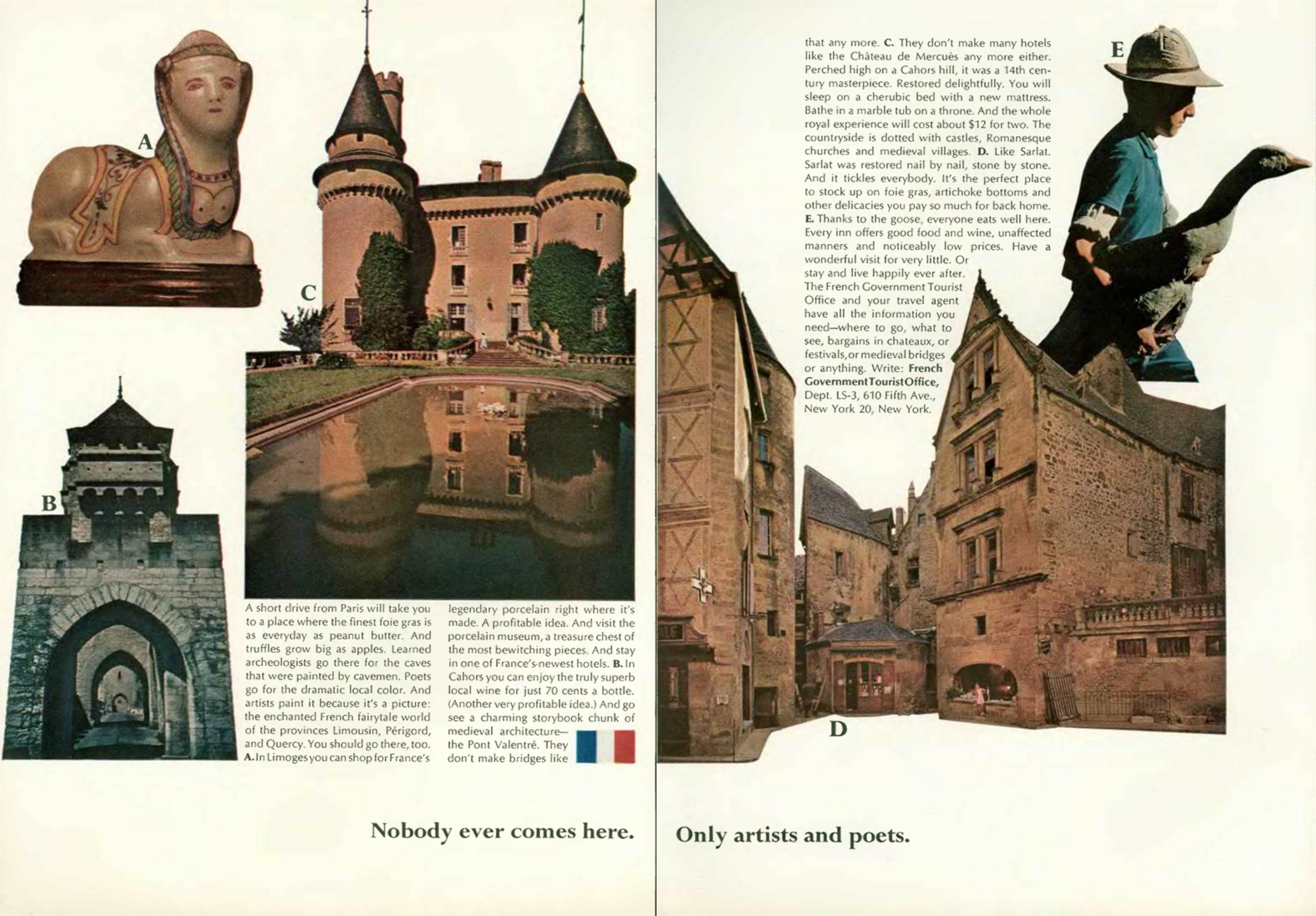 'Nobody Ever' French Tourist Board, DDB NY, 1960's.png