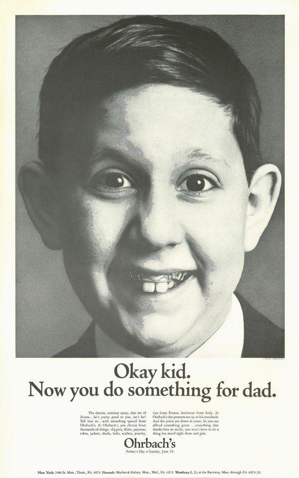 'Okay Kid' Ohrbach's, Howard Zieff, DDB NY.jpg