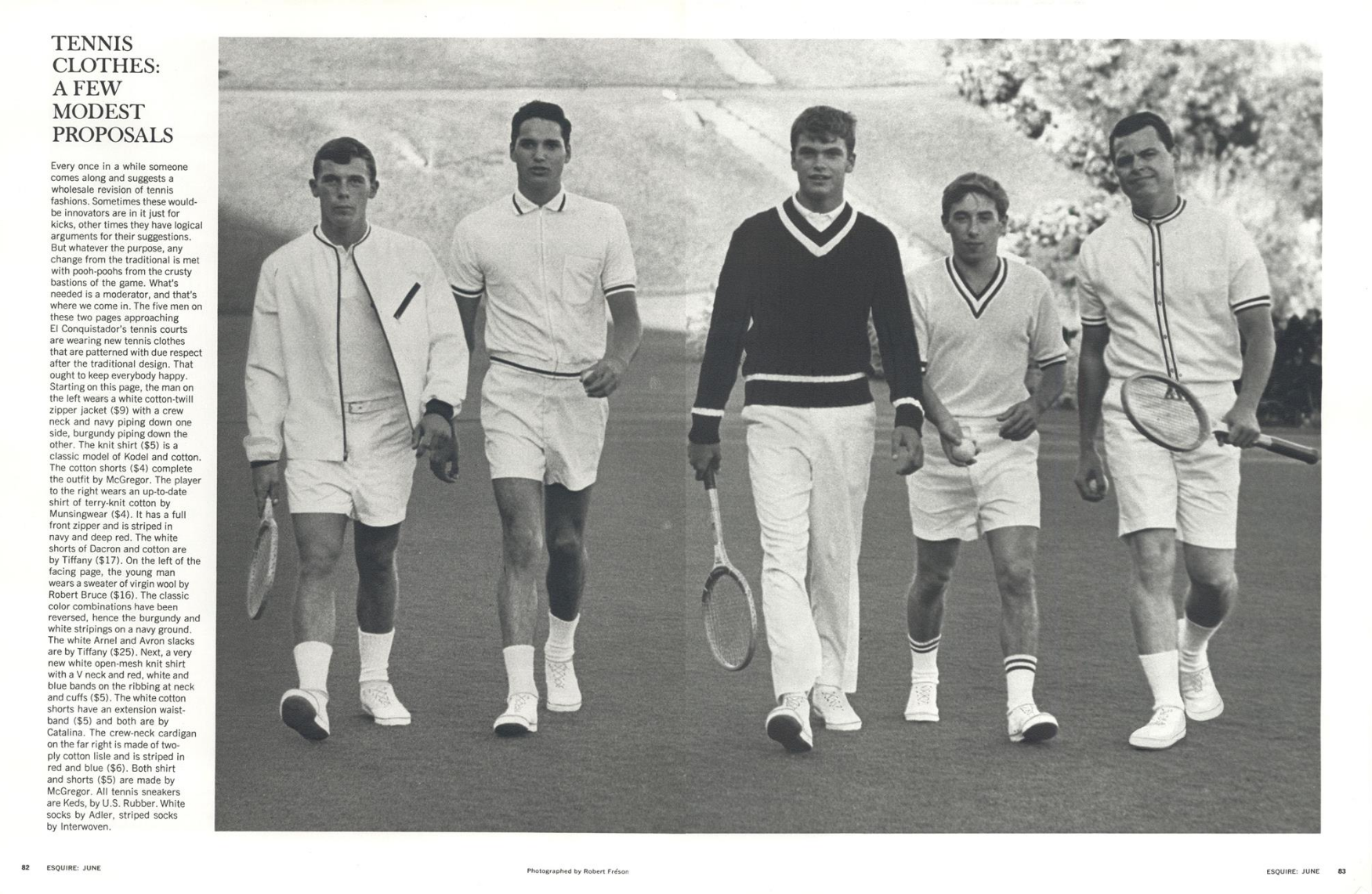 Robert Freson 'Tennis Parade', Esquire.png