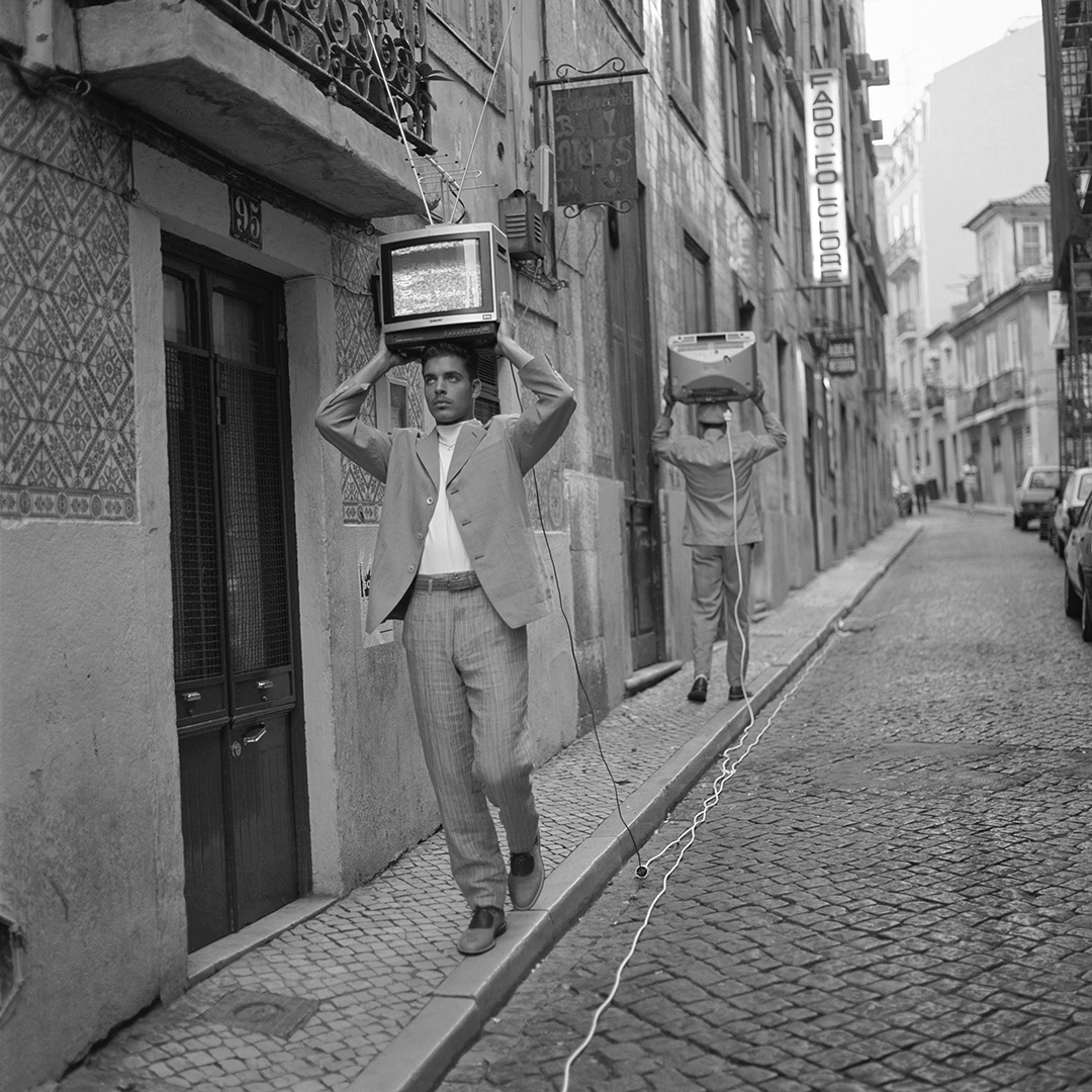 'TV Heads' Portugal, Matsuda,1992, ©geof kern