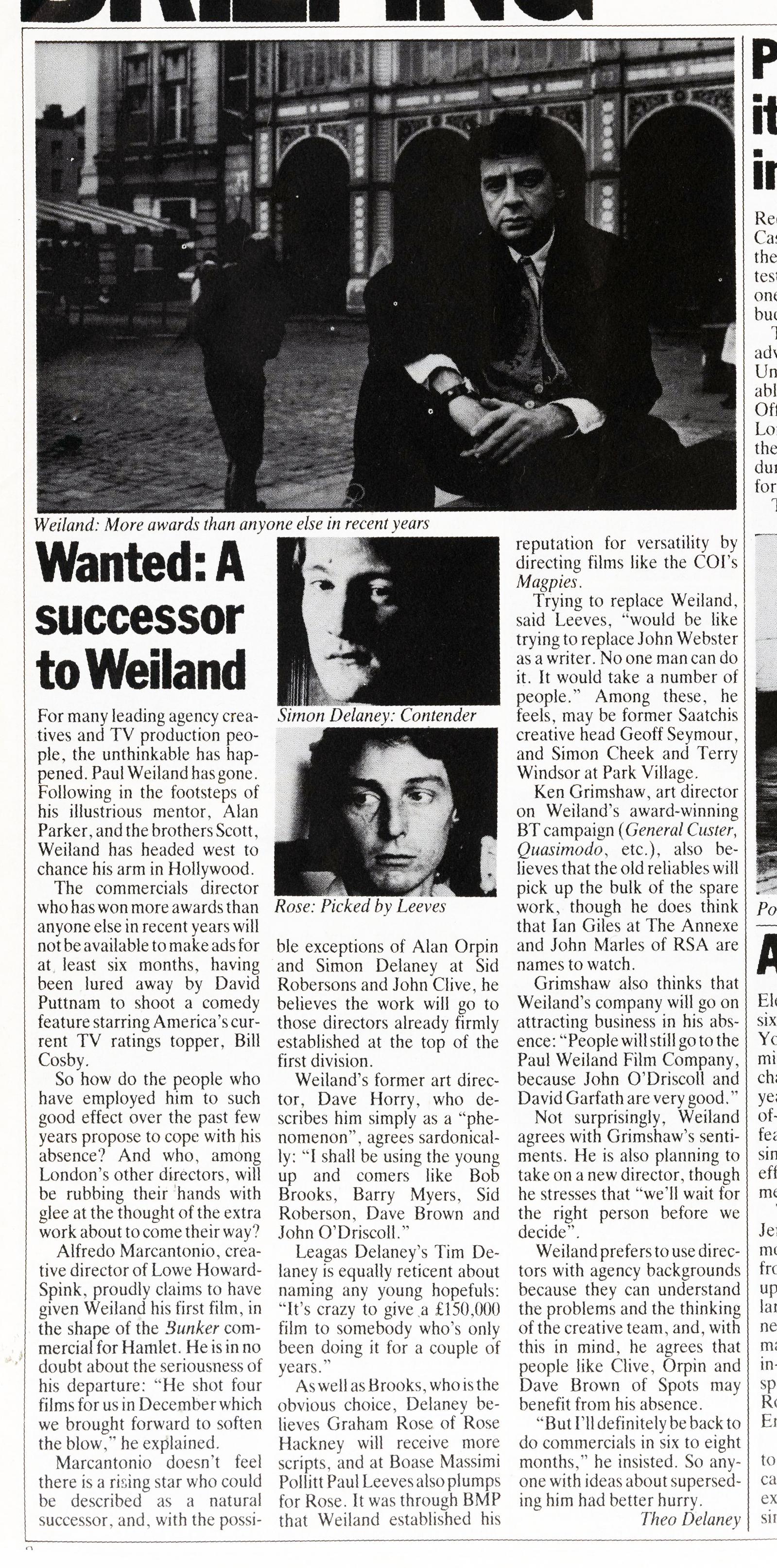 'Wanted- A Successor' Paul Weiland Article-01.jpg