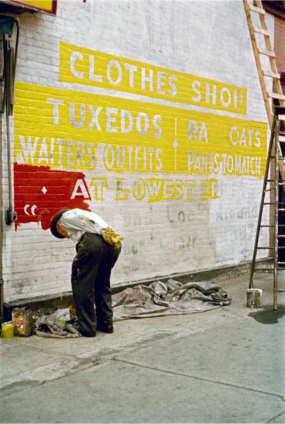 3. 'Sign_Painter_1954', Saul Leiter:Dave Dye