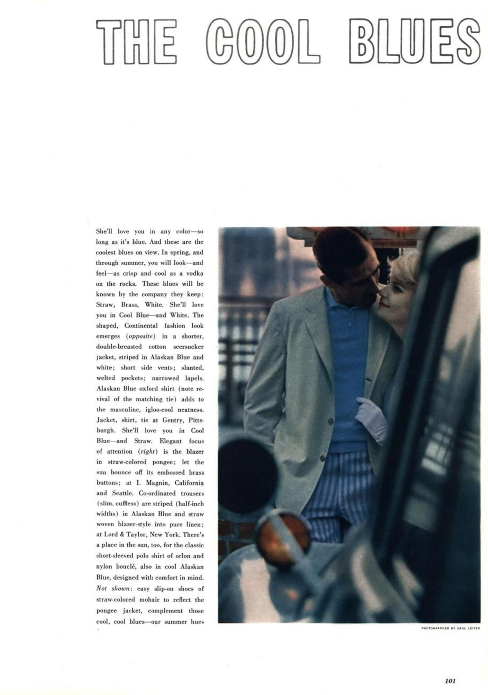 6a. Saul Leiter 'Cool Blue 1', Esquire