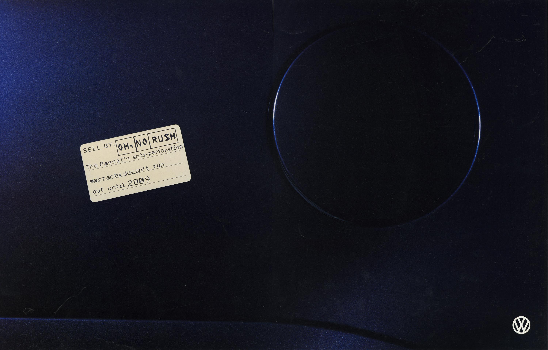 Volkswagen, Fleet Stickers, 'No Rush, (Black Logo)', BMP-DDB-01.jpg