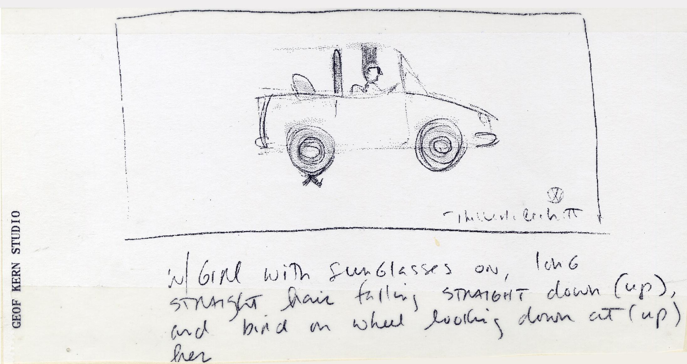 Volkswagen, Golf Cabriolet Roughs, Geof Kern scribble 2-01